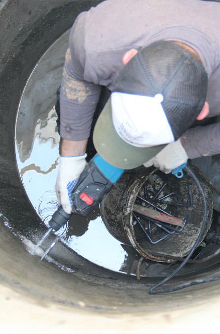 Как мы выполняем ремонт колодцев в Осташево